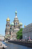 Savior on Spilled Blood in St. Petersburg — Stock Photo