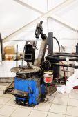 Dealer repair station in Tula — Stock Photo