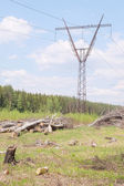 Electricity Pilons in the Countryside — ストック写真