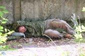 Beggar man outdoor — Foto de Stock