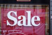 """Sale"" on show window — Stock Photo"