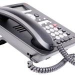 Office IP telephone set — Stock Photo #73548327