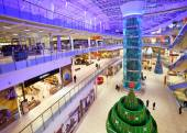 Modern shopping center of Moscow — Stock Photo