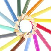 Round of Color Pencils  — Stock Photo