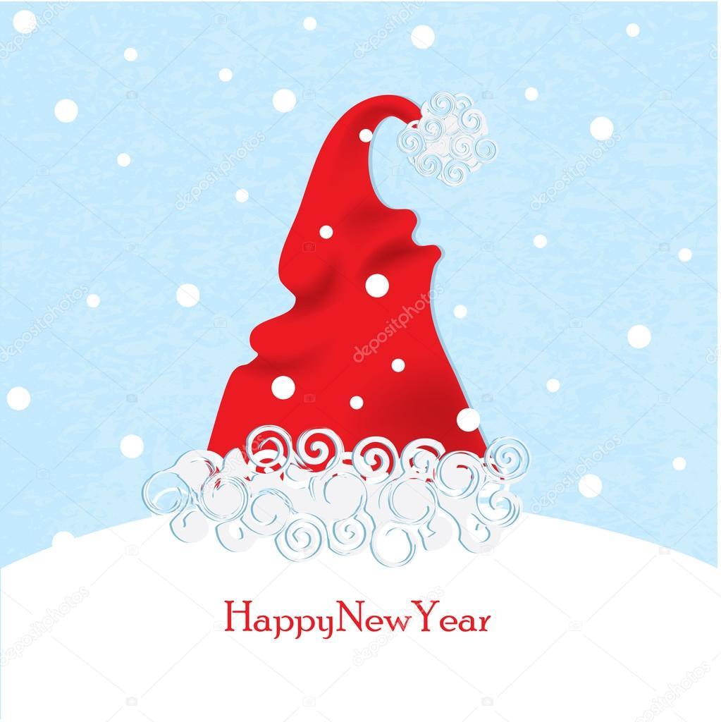 圣诞老人的帽子 — 图库矢量图片