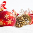 Christmas ball and ribbon — Stock Photo #56024363