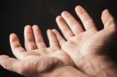 Hands begging — Stock Photo