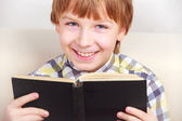 Boy studying the scriptures. — Stock Photo