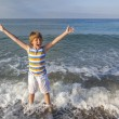 Boy enjoys the sea — Stock Photo #65684395