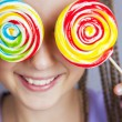 Happy girl with lollipop — Stock Photo #67204943