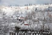 Giorno d'inverno nel villaggio — Foto Stock