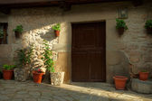 Fragment of old house in Potes, Spain — Foto de Stock