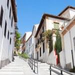 Spanish City Narrow street with houses — Stock Photo #64892513