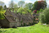 Cotswold stone cottages — Stock Photo