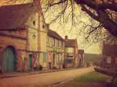 Old street in medieval village — Stock Photo
