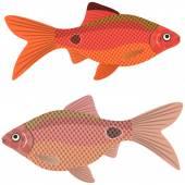 异国情调水族馆的鱼. — 图库矢量图片