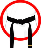 Martial arts black belt — Stock Photo