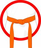 Martial Arts Orange Belt — Stock Photo