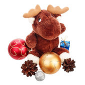 Piñas y bolas de Navidad hermosa — Foto de Stock