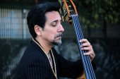 Portrait of Contrabass Player — Stock Photo