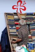 Second-hand Bookseller — Stock Photo