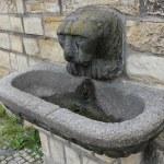 Lion head fountain sculpture — Stock Photo #68254751