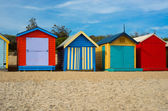 Colorful beach houses in Melbourne, Australia. — Stock Photo