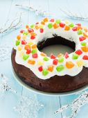 Vánoční dort — Stock fotografie