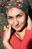 žena s kroužkem — Stock fotografie