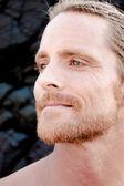 Handsome man gazing — Stock Photo