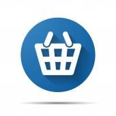 Shopping korg ikonen — Stockvektor
