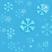 Blue sky with snowflakes — Stock Vector