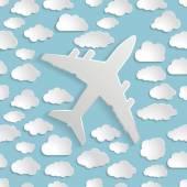 雲が紙飛行機 — ストックベクタ