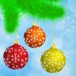 Christmas background with baubles — Stock Vector #67350917