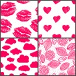 Set of romantic seamless patterns — Stock Vector #67351459