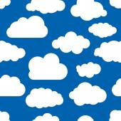 Pattern of clouds wallpaper — Stock vektor