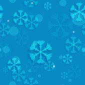 Blauer Himmel mit Schneeflocken — Stockvektor