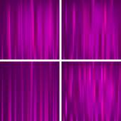 Set of purple backgrounds — Stock Vector