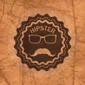Hipster's badge on brown — Wektor stockowy