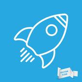Linear rocket icon — Stock Vector