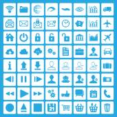 Multimedia and business icons — Stock Vector