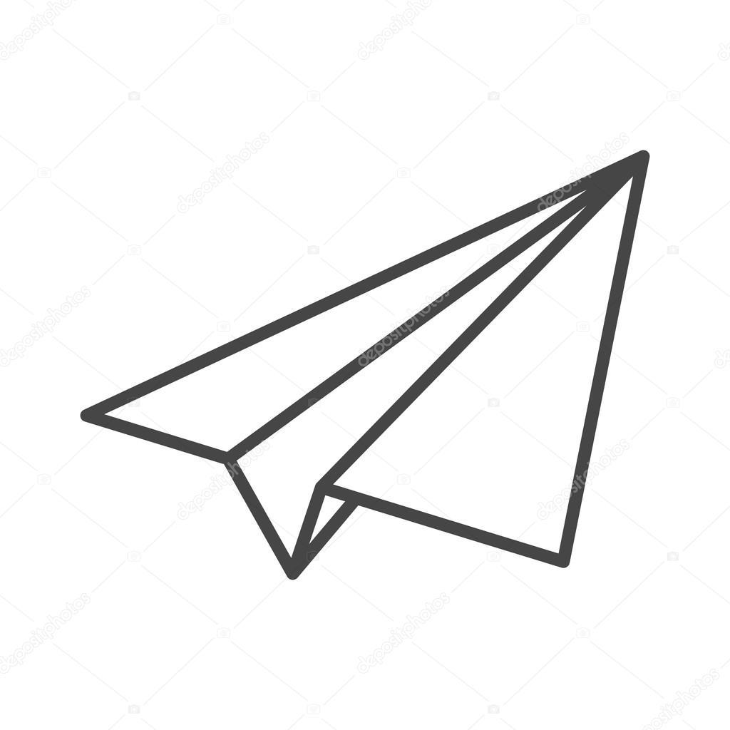 paper plane stock illustration - photo #15
