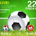 Футбольный матч объявление плакат — Cтоковый вектор #53444853