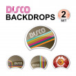 Web glossy design elements - retro disco — Stock Vector #53446433