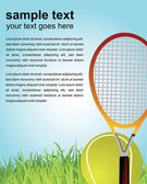Tennis poster — Stock Vector