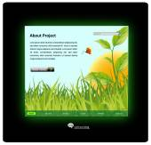 Ecology and nature web site design template — Stock Vector
