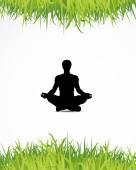 Fondo de yoga — Vector de stock