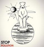 Stop global warming — Stock Vector