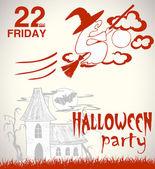 Halloween hand-drawn illustration — 图库矢量图片