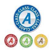 Class A sign — Stock Vector